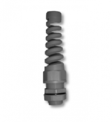 IP68 & IP55 – Nylon spiral cable glands and sealing grommets