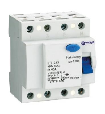 OPR – Interruptores diferenciales / 6kA