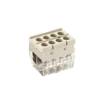 Automatic push connectors